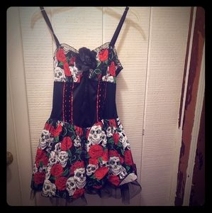 Hot Topic Day of the Dead dress sz large